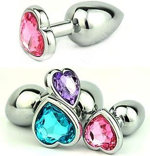 fb5a9d49b Silicone Jewel Plug Butt Mini Size Heart Shaped Stainless Steel Crystal Anal  Plug Jewelry Butt Plug