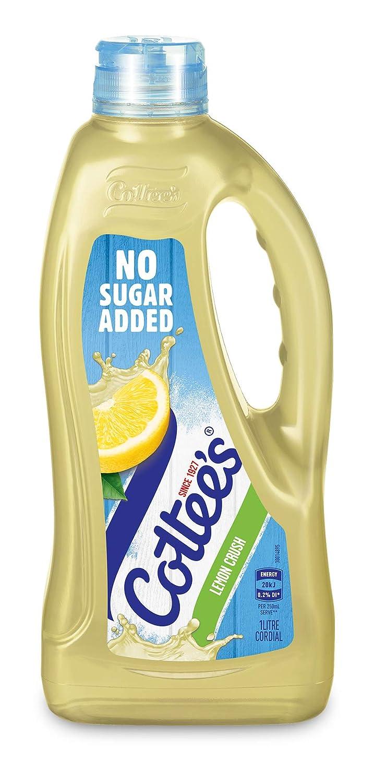 Cottee's Cordial 1 year warranty Max 87% OFF Lemon Free Sugar 1l