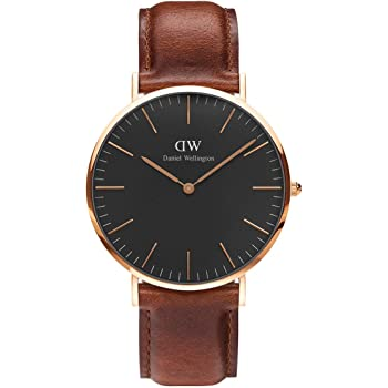 Daniel Wellington Classic St Mawes Watch Leather Men Rose Gold Women