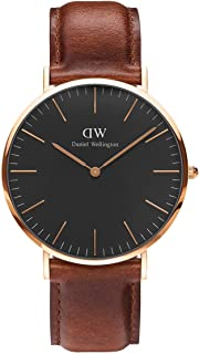 Daniel Wellington Classic St Mawes Watch, Italian Brown Leather Band
