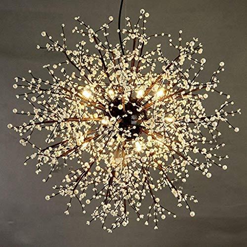 HEZHANG Lámparas de Luz Colgantes Lámpara de Techo de Palacio de Cristal, Luz Led Moderna Luz Colgante de Techo para Comedor Araña de la Sala de Estar,Luz Caliente de 80 cm