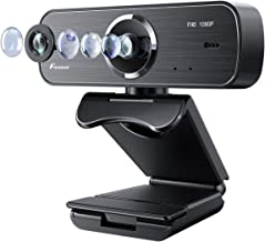 1080P HD Webcam with Two Microphones, Foxnovo 360° rotatable Streaming Computer Web Camera with Facial Enhancement Technology USB Wide Angle Camera for Video Conferencing, Recording, and Streaming