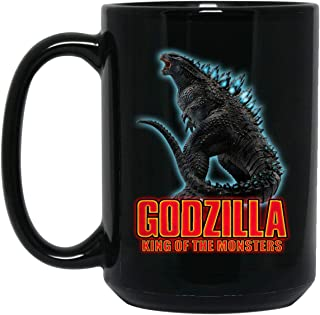 Perfect Japanese Monster Godzilla Coffee Mug - Fan King Of The Moster 2019 Mug - Godzilla God Nuclear Weapon Tea Cup - Birthday Xmas Gift For Son/Men Beer mug 15 OZ