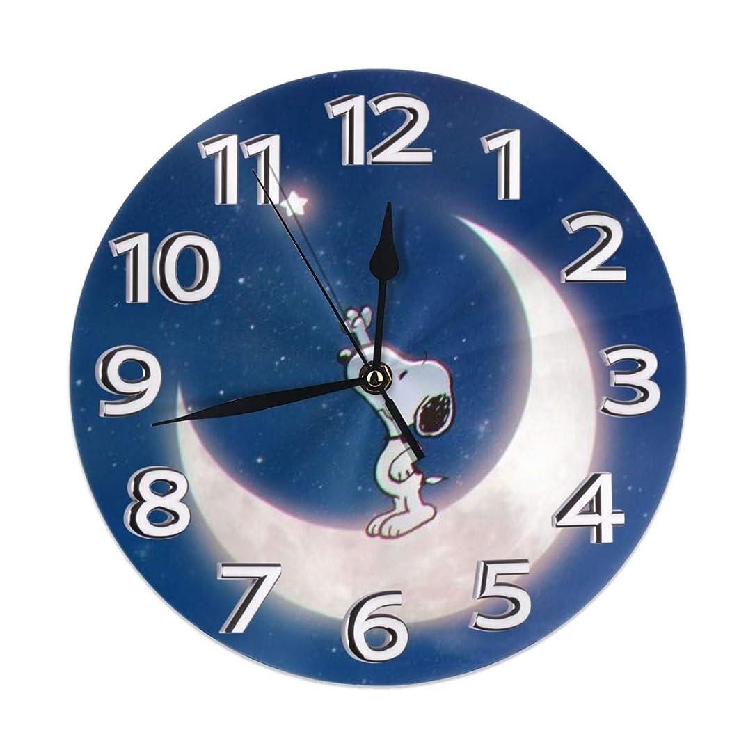 ルネッサンス対人りんご壁掛け時計 スヌーピー 掛け時計 おしゃれ レトロ 大文字 数字 静音 北欧 侘寂 シンプル カフェ 寝室 部屋 店舗 家 掛時計