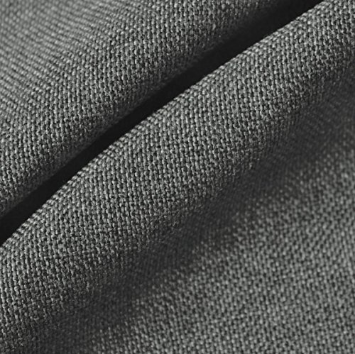 STOFFKONTOR Polsterstoff Möbelstoff Stoff Meterware Mittel-Grau meliert