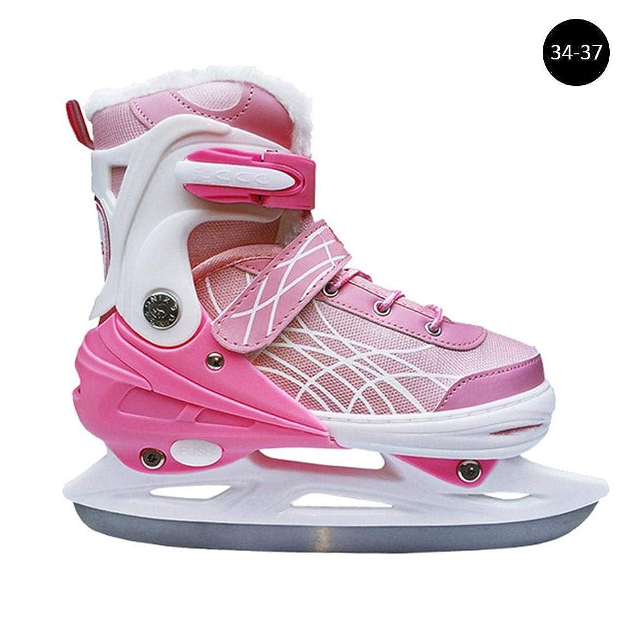 マニア出撃者フリッパースケート フィギュアスケート靴 フィギュアスケート 4速調整可能 防寒 脱臭 吸汗 通気性 保温 厚い レディース/メンズ アイススケート スケート靴