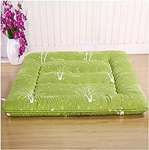 Japanese futons Mattress,Foldable Futon Tatami Mattress Soft Thick Japanese Student Dormitory Mattress,Green,Green,90 * 20...