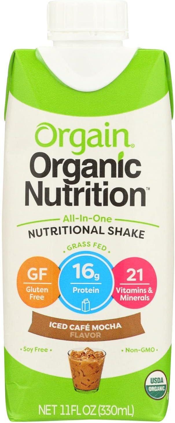Orgain Organic Nutritional Shake free - High order Iced 3 CAF? of Mocha Case