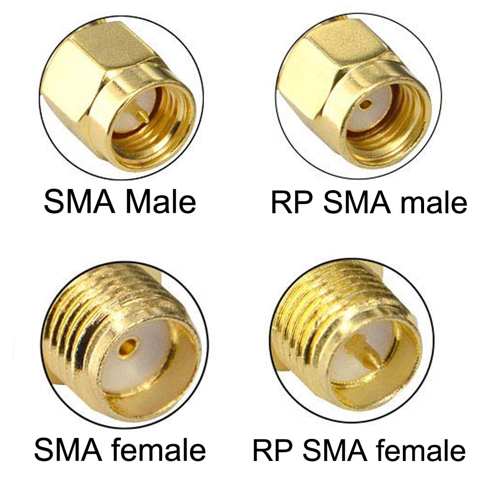 YOUKITTY 20PCS Copper RP-SMA Female to N Male Plug Coaxial RF Connector Adapters