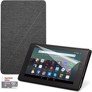 お買い得セット(Fire 7 タブレット16GB + 純正カバー チャコールブラック + 保護フィルム + SanDisk 64GB microSDHCカード)