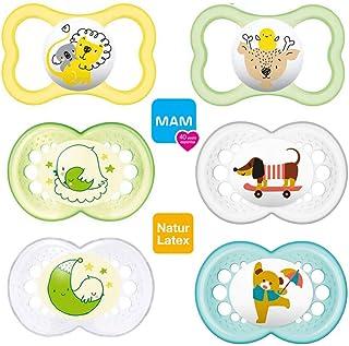 Mam Day & Night//látex//Original Chupete, Air Chupete//16+ Mo. //UNI Mix//Juego De 6//Incluye 3ster ilisi ertra port Cajas