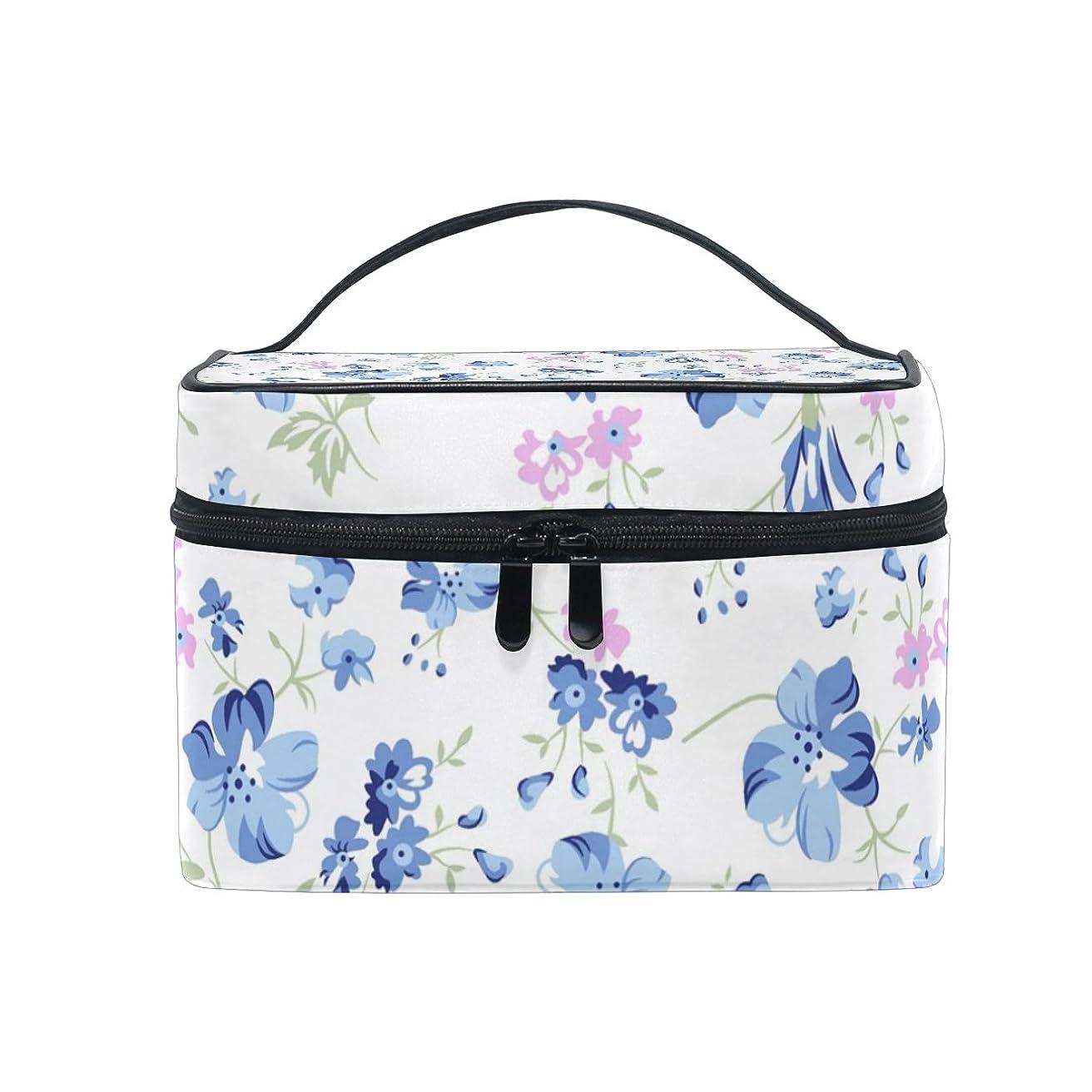 AyuStyle コスメバッグ メイクポーチ 化粧ポーチ バニティケース トラベルポーチ 収納ポーチ バッグ 花柄 おしゃれ 雑貨 小物入れ 機能的 大容量