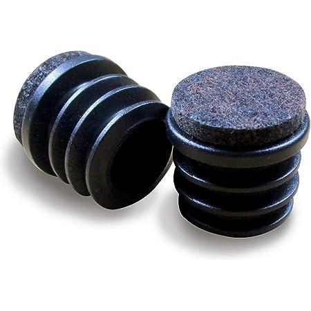Ajile® - 16 piezzas - Tapon redondo para pata de silla y almehadillas 16 mm DIAMETRO EXTERIOR con suela de fieltro contra ruido y arañazos - ERF116-FBA
