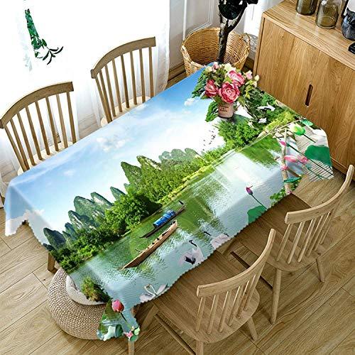 Chen Manteles Mesa de Centro Mantel Moderno Minimalista Tela Rectangular Algodón y Lino IKEA Nordic Wind Escritorio Mantel de Tela Paño TV Gabinete (Size : Rectangle - Wide 134cmx Long 183cm)