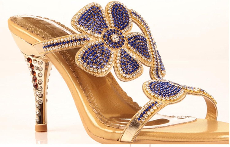 Monie Women's Glitter Rhinestones Bridal Sandals Wedding Dress Heels