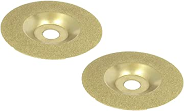 """XMHF 100mm/4"""" Diamond Coated Grinding Disc Wheel for Angle Grinder Diamond Rotary Grinding Disc 2 Pcs"""