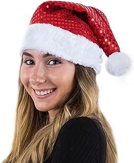 Funny Party Hats Sequin Santa Hat - Christmas Hats - Santa Hats Adults - Holiday Hats