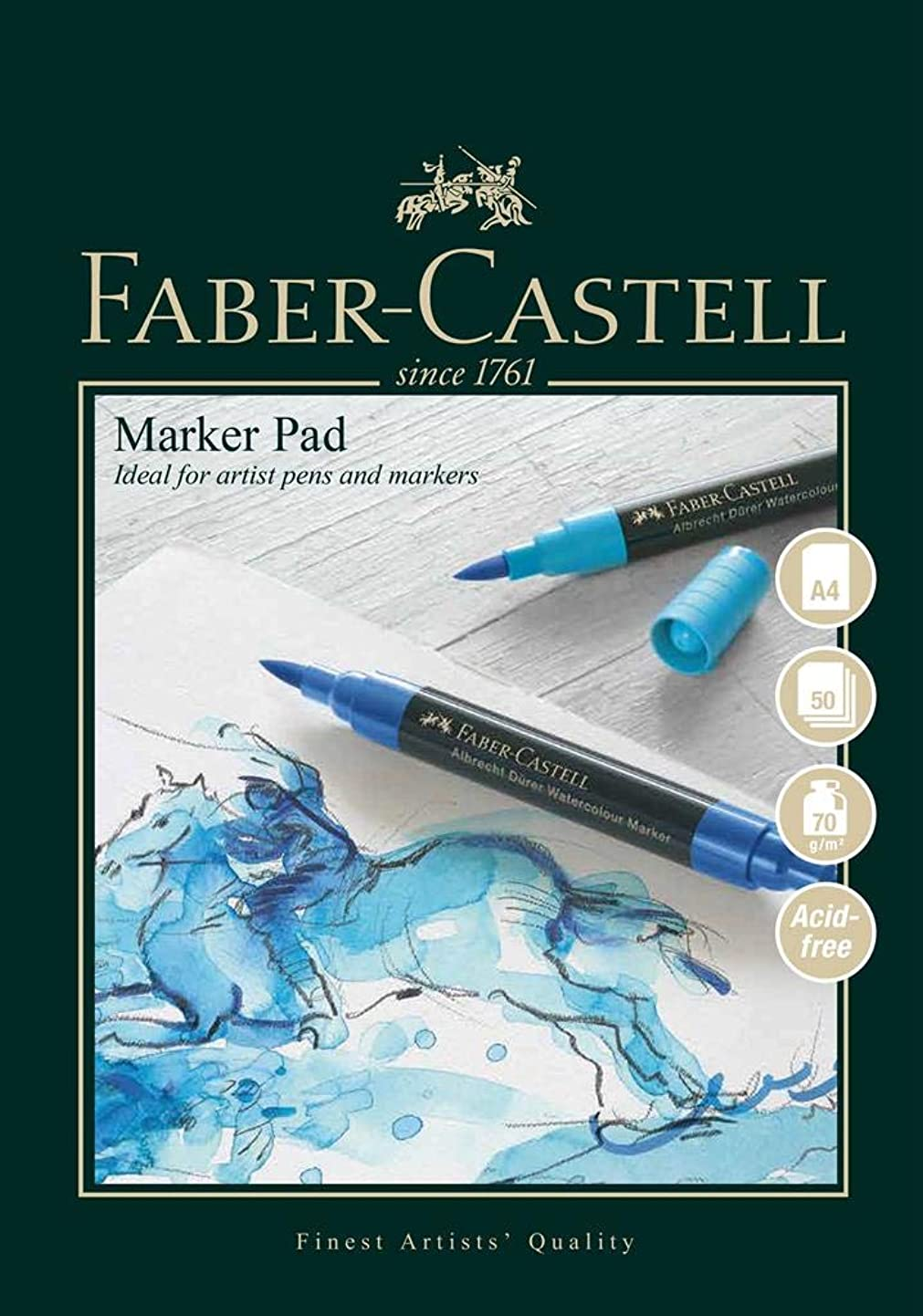 Faber-Castell A4 Gummed Marker Pad - 70gsm - 50 Sheets lgxgwattxwn4