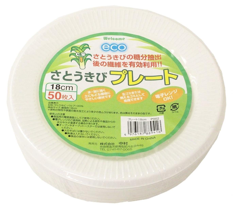コマース楕円形カフェ【業務用】 ECO さとうきび繊維 プレート 18cm (50枚入)