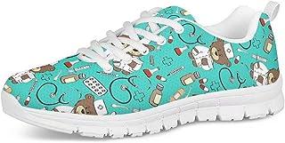 Zapatos Deportivos para Mujer, Zapatillas Planas con diseño de Osos, Zapatillas de Tenis con Cordones de Malla, Zapatos para Correr Ligeros y Casuales,36-45 EU