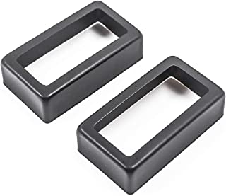 Geesatis Set of 2 Open Style Humbucker Pickup Covers for Electric Guitar, Black, Metal