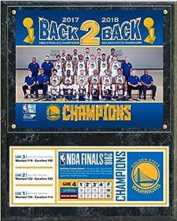 Golden State Warriors 2018 NBA Finals Champions Photo Plaque (Size: 12