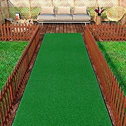 Ottomanson Evergreen Collection Indoor/Outdoor Green Artificial Grass Turf