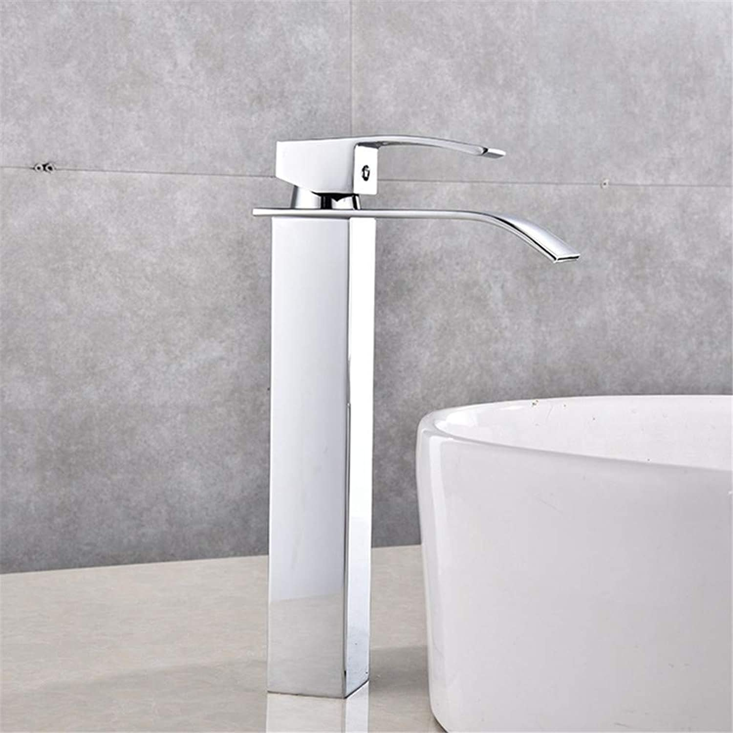 Oudan Stainless Steel Hot and Cold Basin Faucet Waterfall Faucet (color   -, Size   -)