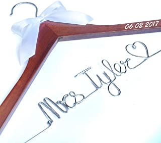 Personalized wedding Hanger, Wire Name bride Hanger, Wedding dress hanger, Bridal Hanger