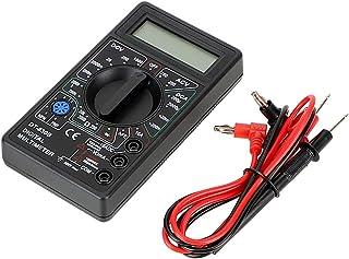 CuiGuoPing DT-830B - Multímetro digital (LCD, pantalla digital, Ohmmeter Volt Tester, analizador), Negro