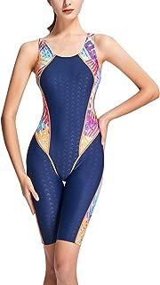 Professional Athletic Training Swimsuits One Piece Boyleg Sports Bathing Suit