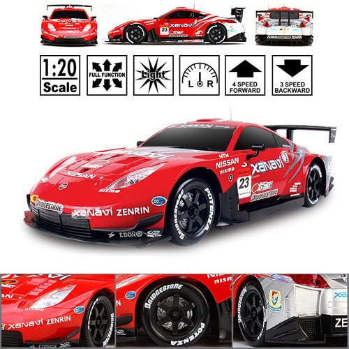 HSP Himoto Nissan Fairlady Z Super GT500 #23 - RC ferngesteuertes Lizenz-Fahrzeug im Original-Design, Modell-Maßstab 1:20, Ready-to-Drive, Auto inkl. Fernsteuerung und Akku