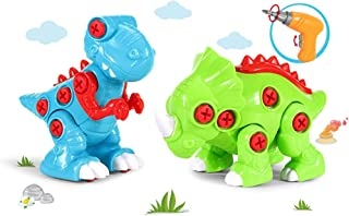 yeesport Dino Building Block Set DIY Educational Realistic Plastic Dinosaur Toy with Electric Drill Diy Dinosaur Building ...