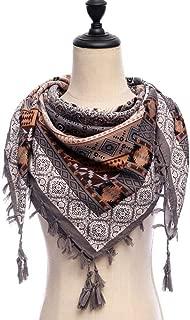 Scarf Scarfs Women Women Scarf Square Cotton Shawls and Wraps Lady Pashmina Tassels Bohemia Foulard Winter Female Bandana Hijabs (Color : Grey)