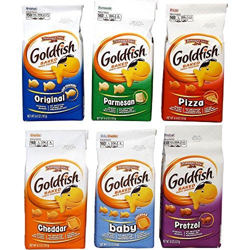 <6種類>Goldfish ゴールドフィッシュ スナッククラッカーズ [並行輸入品]