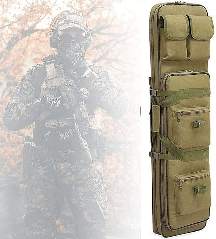YQJY Bolsa para Rifle Funda para Armas Pistola Bolsa de Almacenamiento Mochila para Pistola,Escopeta de Airsoft con Correa para el Hombro,Impermeable,para Caza y Pesca,B-120cm/47.2in