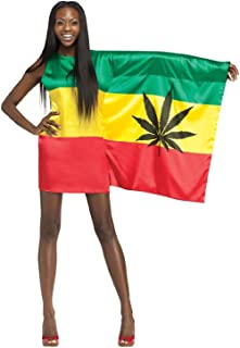 plus size jamaican flag dress