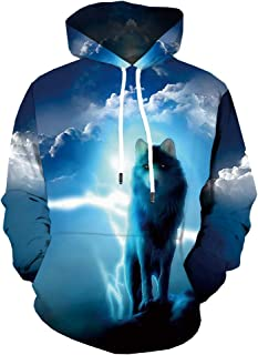 Unisex Funny 3D Hoodies Pullover Hooded Sweatshirt with Pockets Long Sleeve
