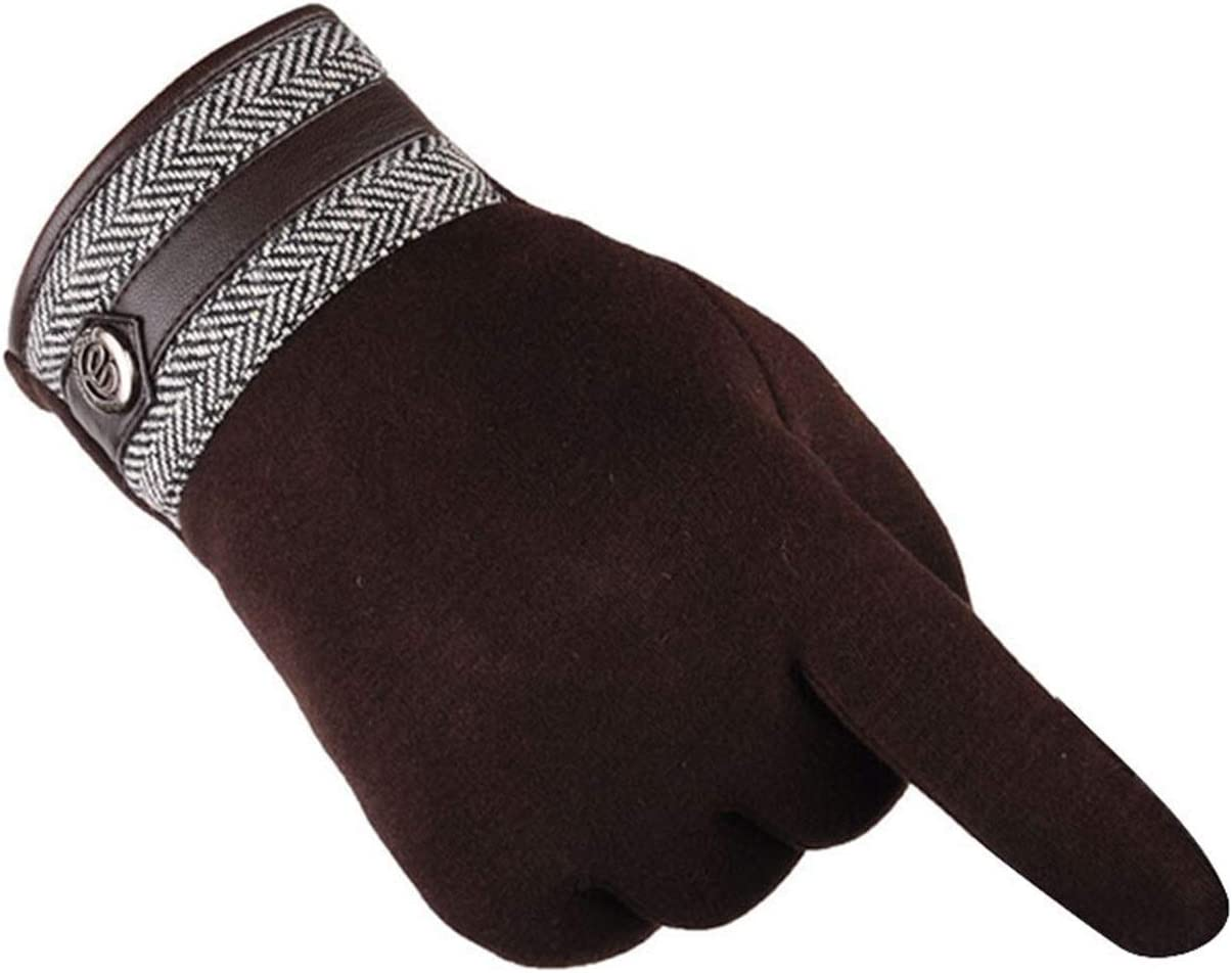 Lupovin-Keep Warm Men's Potent Winter Ardent Motorcycle Ski Snow Ski Gloves Easy Gloves Non-Slip (Color : B)