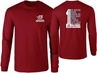 Elite Fan Shop Alabama Crimson Tide National Champs Long Sleeve Tshirt No Matter (2017 National Championship)