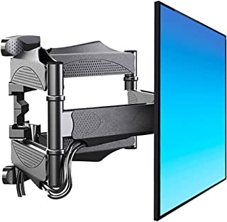 TV Stand Universal Display Wall Mount Telescopic Hinge Arm Rotatable HDTV Stand Wall Shelf (Color : Black, Size : 40 * 40 ...