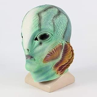 HEJUNF AU Halloween Horror Mask Latex Fish Monster Man Latex Headpiece C Halloween Bar Party Headwear (Color : C)