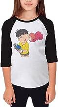 Autumn Youth Ponyo Crew Neck 3/4 Sleeves Raglan T Shirts