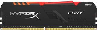 وحدة ذاكرة خطية مزدوجة فيوري DDR4 من هايبر اكس بالوان الفضاء اللوني RGB سعة 16 جيجا وتردد 3200 ميجا هرتز، 1Rx8، رقائق الذا...