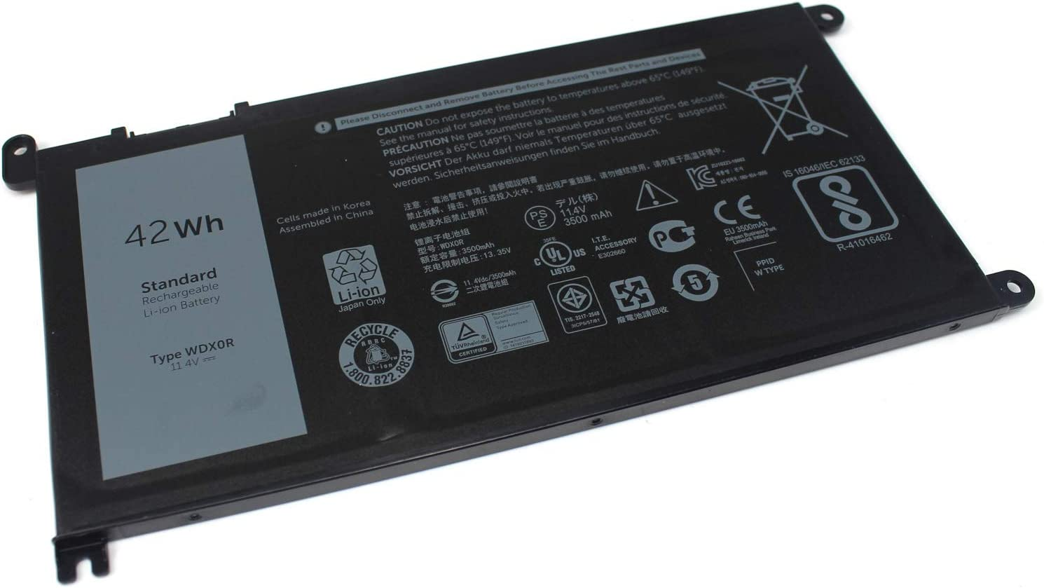 New WDX0R Lapotp Battery Compatible with Dell Inspiron 13 15 17 7000 5000 Series 15-5567 15-5568 15-5578 15-5565 15-7579 15-7569 15-7560 15-7570 5368 7378 5378 5379 7368 PC Computer.