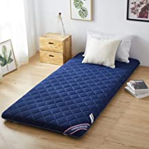 Japanese Floor Mattress Futon Mattress,Thicken Sleeping Pad Tatami Mat Roll Up Mattress,Single Double Anti-Slip Floor Futo...