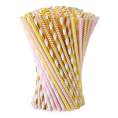 Paper Straws Esonmus150pcs/set Wedding Receptio...