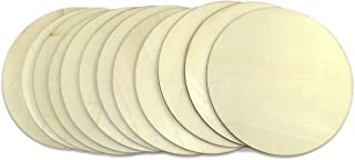 Unfinished Wood Slices, 12-Count Round Natural Rustic Wood Circles, Wooden Log Slices for DIY Craft, 8-inch Diameter, 0.1 inch Thick …