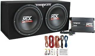 MTX TNP212D2 12-Inch 400-Watt RMS Dual Loaded 1200-Watt Car Subwoofer Enclosure Audio with Sub Box, Mono Block Amplifier, ... photo