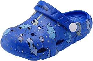 Hopscotch Baby Boys and Baby Girls EVA Printed Clogs in Blue Color